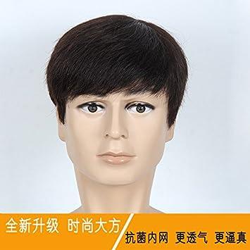 Amazon.com: Coreano hombres de negocios Invisible Peluca ...