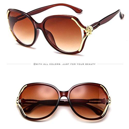 Mode Soleil Casual Uv Unisexe Couleurs Adeshop 7 Outdoors Chic Brown Vintage Big Rose Lunettes De Rétro Frame Vue Protection wFPEvEqA