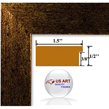 24x32 brushed copper brass finish picture poster frame 15 inch wide mdf