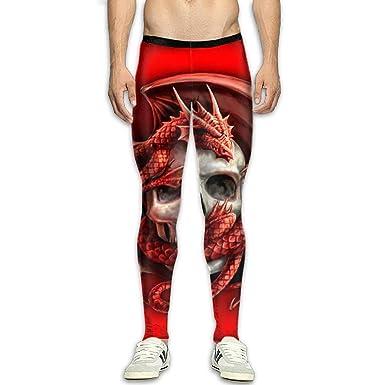 Xingkongzhong Red Dragon and Skull Mens Fitness Sports ...