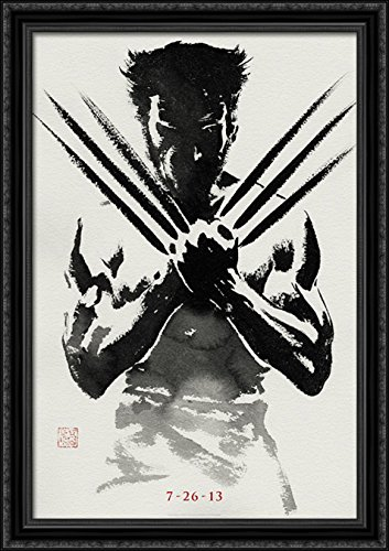 The Wolverine 28x40 Large Black Ornate Wood Framed Canvas Mo