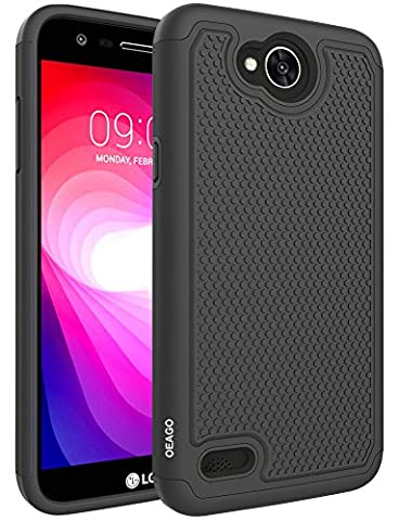 LG X Charge Case, LG Fiesta LTE Case, LG X Power 2 (2017) Case, OEAGO [Shockproof] [Impact Protection] Hybrid Dual Layer Defender Protective Case Cover for LG X Charge (2017) / LG Fiesta LTE - (Phone Case Charges)