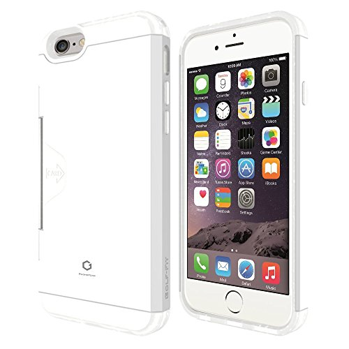 Phonefoam Fit Series Slim Wallet Case for Apple Iphone 6 / 6s (White Tpu with White Pc)