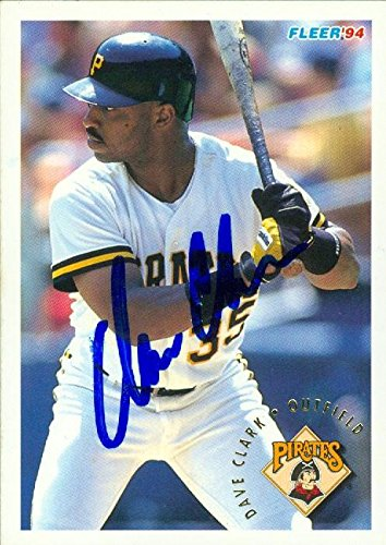 Dave Clark Autographed Baseball Card Pittsburgh Pirates