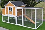 4x6 chicken coop - Omitree 7.6' Large Wood Chicken Coop Backyard Hen House 4-8 Chickens w nesting box Run