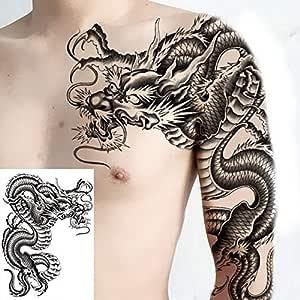 Handaxian 3pcs-Tattoo niño Tatuaje Pegatina dragón Hombro Tatuaje ...