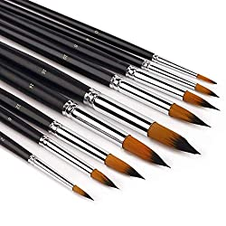 9 Premium Artist Brushes - from beginner and intermediate art users through to advanced and professional artists.    This art paint brush set is a great introduction to professional quality. The paint brushes are handmade with care, using the fin...