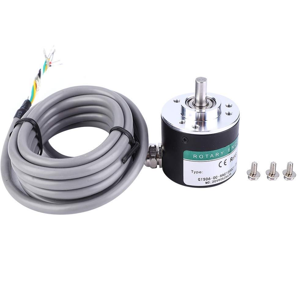 Rotate Encoder GTS06-1000 5-24V 6mm Incremental Pulse Photoelectric Rotate Encoder ABZ 3 Phase Shaft