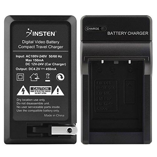 Insten AC/DC Replacement Battery Charger Compatible With Fuji NP-45/FinePix Z100FD/Z10FD/Z200FD/Z20fd/Z30/Z300/Z33/Z33WP/Z37/Z70/Z700EXR SLR Camera/OLYMPUS STYLUS 7010 1050 850 790 - Stylus Olympus 1050 Sw