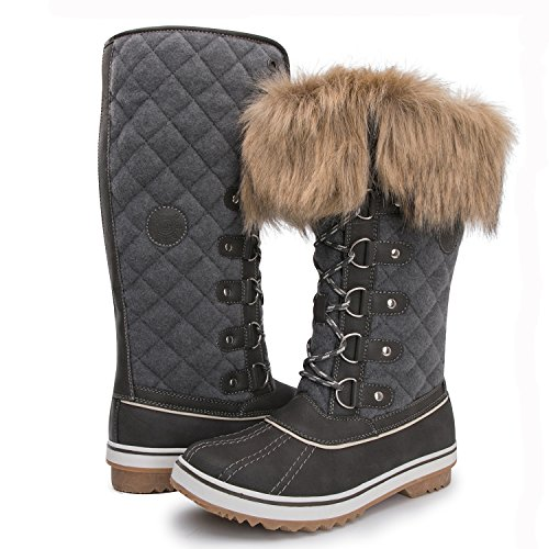 Women Winter Boot (Kingshow Women's Globalwin 1707grey Waterproof Winter Boots - 10 D(M) US Women's)