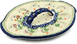 Polish Pottery Egg Plate 11-inch Spring Flowers