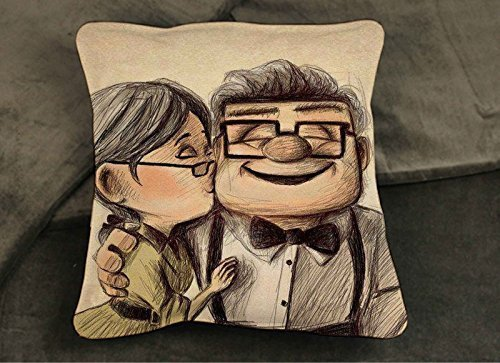 Disney Up Movie (Disney Pixar Carl and Ellie Up Movie Pillow Case Two Sides 20 x 20)