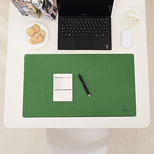 Desk Mat Desk blotter, Ashipher Mouse pad Protector (Green)