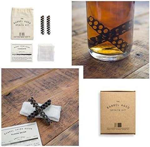 CKB Ltd® barril años espíritu Kit de envejecimiento a su vez la más barata licores en un Premium selección – Ideal para Gin, vodka o blanco Ron – ...