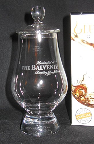 Balvenie Scotch Whisky Distillery Logo Glencairn Tasting and Nosing Glass with Ginger Jar Top