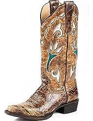 Stetson Womens Vintage Tulip Western Boot