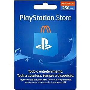 Cartão Playstation Store Brasil R$ 250 Reais Psn Brasileira