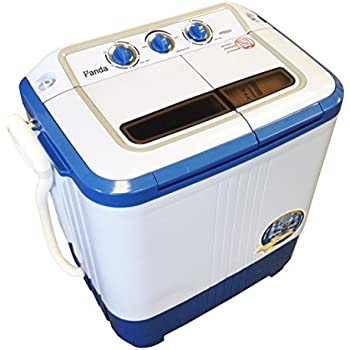 Panda Small Compact Portable Washing Machine (10 Lbs Capacity) With Spin  Dryer  Larger