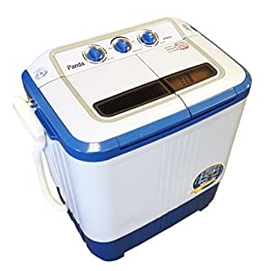 Panda Small Compact Portable Washing Machine (10 lbs Capacity) with Spin Dryer -Larger Size, Built in Pump