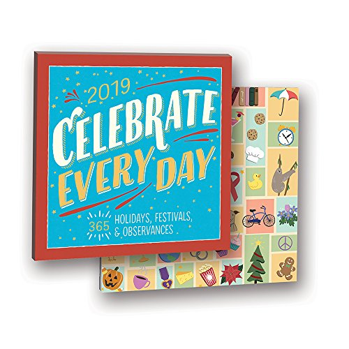 Orange Circle Studio 2019 Album Wall Calendar, Elizabeth T. Gilbert Celebrate Every Day