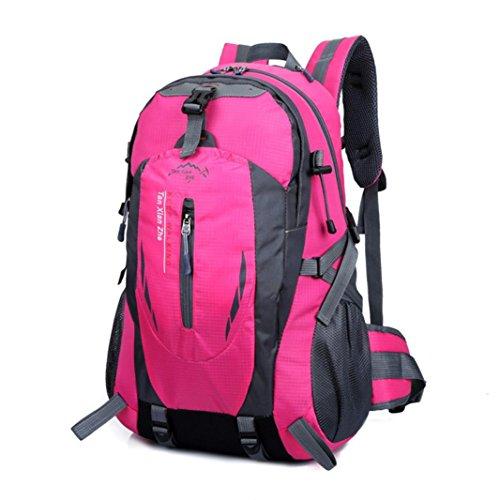 Iuhan® Fashion 40L Outdoor Hiking Camping Waterproof Nylon Travel Luggage Rucksack Backpack Bag (Hot - Pink Camo Oakleys