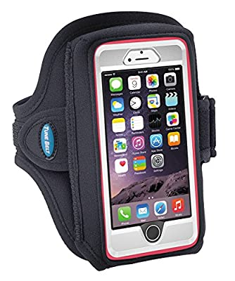 Armband for iPhone 6, 6s, 7 with OtterBox & Galaxy S5/S6/S7 with LifeProof Case or OtterBox Defender - for Running & Workouts - for Men & Women - Sweat-Resistant Design [Black]