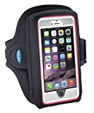 Armband for iPhone 6, 6s, 7 with OtterBox & Galaxy S6/S7/S8 with LifeProof Case or OtterBox Defender – for Running & Workouts – for Men & Women - Sweat-Resistant Design [Black]