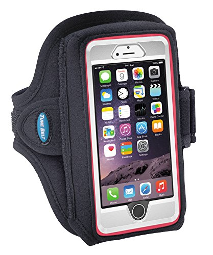 Armband for iPhone 8 7 6s 6 with OtterBox Defender / Commuter Case - Fits Galaxy S6 S7 S8 and iPhone X with LifeProof / Large Case - For Running & Working Out - Sweat-Resistant [Black]