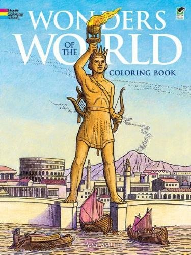 Wonders of the World Coloring Book (Dover History Coloring Book) ()
