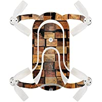 Skin For ZEROTECH Dobby Pocket Drone – Stacked Wood | MightySkins Protective, Durable, and Unique Vinyl Decal wrap cover | Easy To Apply, Remove, and Change Styles | Made in the USA
