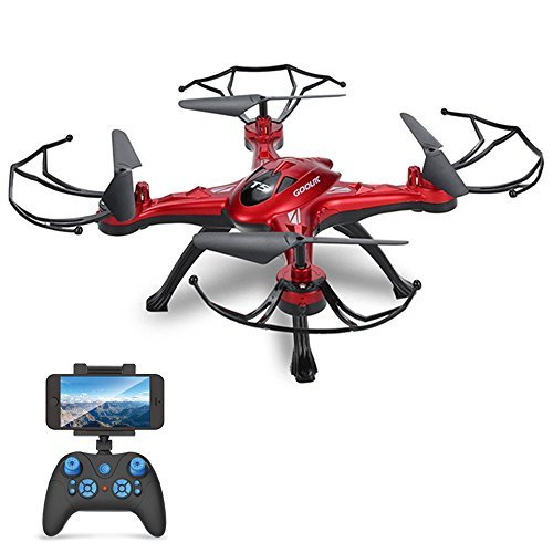 GoolRC T5W Wifi FPV Drone with Camera Live Video,Headless Mode & One Key Return & 3D Flips RC Quadcopter by GoolRC