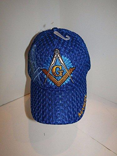 Mason Masons Freemason Masonic Lodge Royal Blue Shadow Mesh Texture Ball Cap (Lodge Cap)