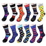 12 Pairs Men Dress Socks - W934G-Imagination Pack