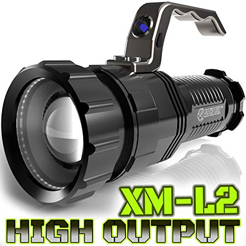 1500 LUMEN | HIGH OUTPUT | RECHARGEABLE | ZOOMABLE Floodlight to Spotlight | X-Lamp XM-L2 CREE LED (20% Brighter Than T6 LED) TACTICAL FLASHLIGHT | (NO Battery Included)