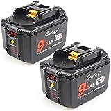 2 Pack Waitley BL1830 battery for Makita 18V...