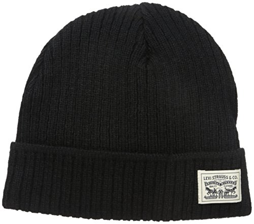 levis-mens-knit-cuff-beanie-with-woven-label-black-one-size