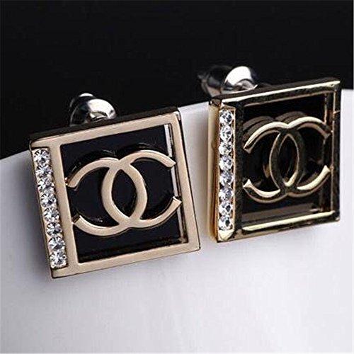Pphoebus-18K-Yellow-Gold-Vintage-White-Swarovski-Crystal-Studs-Earrings-Rhinestones-Dangle-Charms-Hoops-For-Women-Girls