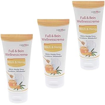 CareMed Milch Honig Wellness Fußcreme Fuß und Bein, Wellnesscreme, 150 ml