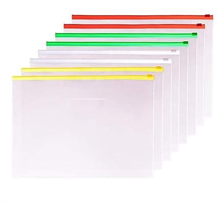 Carpeta de documentos A3 con cremallera, bolsas de plástico ...