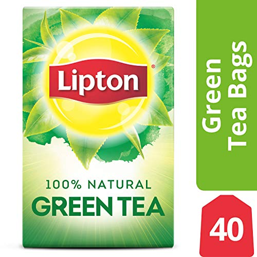 Lipton Green Tea Bags, 100% Natural Tea, 40 ct, Pack of -