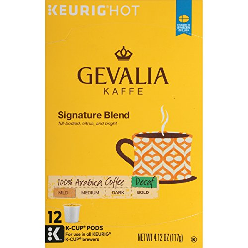 Gevalia Signature Blend Decaf Coffee, Mild Roast, K-Cup Pods, 12 Count ()
