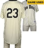 Carlos Villanueva San Diego Padres Game-Used #23 White Pinstripe Uniform vs Boston Red Sox on September 7, 2016 - Fanatics Authentic Certified