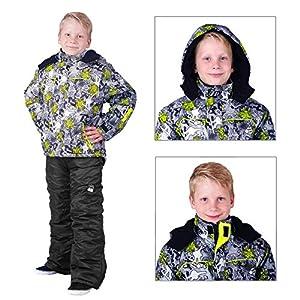 Kinder Skianzug Neon Grau Gr. 92 - 122 (122)