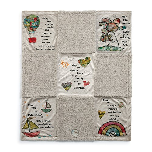 - DEMDACO Blessings Multicolored Patchwork 40 x 30 Children's Plush Blanket