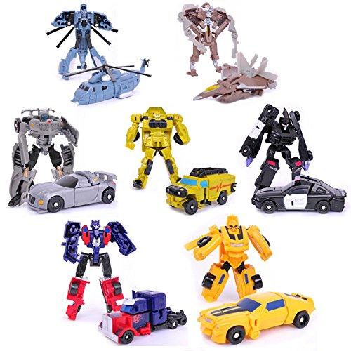 Transformation 7pcs/lot Kids Classic Robot Cars Toys For Children Action & Toy Figures (Without Retail BOX)