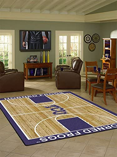 College Court TCU Horned Frogs Rug Size 5 4 x7 8