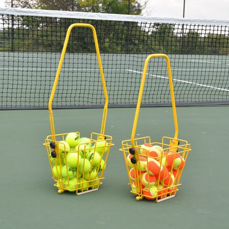 Oncourt Offcourt Tennis Masterpro Ball Basket – Easiest Way to Hold Tennis Balls/Height Adjustable/No Tool Assembly/Junior 36 Balls (Tennis Junior Player)