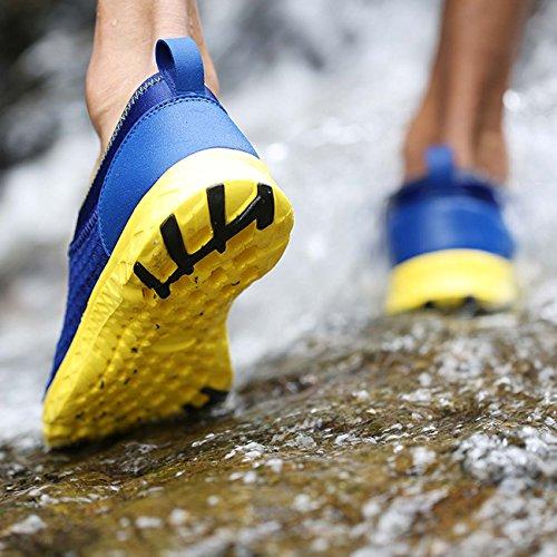 Meravigliarsi Scarpe Da Passeggio Air Mesh Leggero Running Gear Quick Dry Aqua Slip On Water Shoes Per Donna Uomo Blu