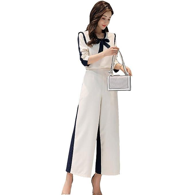 efacf21ed77b8 CHUGUANG結婚式 ドレス パンツドレス セットアップ レース 袖あり パンツスーツ トップス+ワイドパンツ