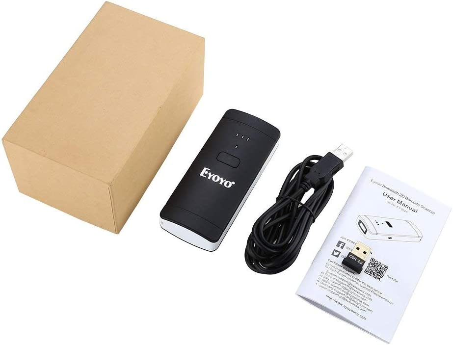 Eyoyo 1D 2D QR Wireless Barcode Scanner Compatible with Bluetooth ...